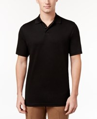 Tasso Elba Men's Supima Blend Cotton Polo Only At Macy's Black On Black