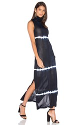 Egrey Sleeveless Turtleneck Maxi Dress Navy