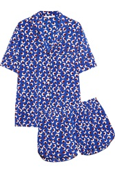 Stella Mccartney Poppy Snoozing Printed Stretch Silk Pajama Set