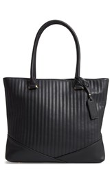 Sole Society Urche Quilted Faux Leather Tote Black