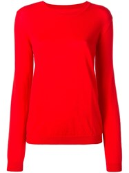 Maison Martin Margiela Elbow Patch Jumper Red