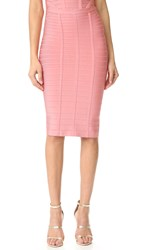 Herve Leger Sia Pencil Skirt Pale Coral