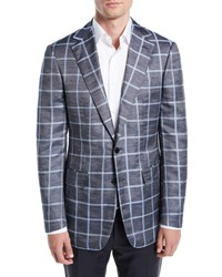 Stefano Ricci Windowpane Sport Coat Gray