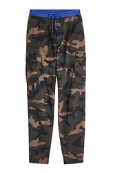 Valentino Camouflage Cotton Pants Green