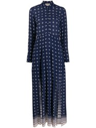 Semicouture Printed Long Button Up Dress 60
