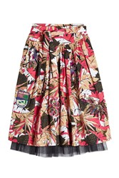 Marc Jacobs Belted Tropical Print Skirt