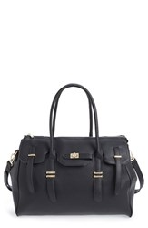 Sole Society Faux Leather Weekend Satchel Black