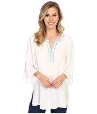 Ariat Victoria Top Snow White Women's Short Sleeve Pullover