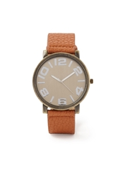 Forever 21 Faux Leather Strap Watch