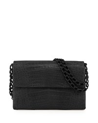 Nancy Gonzalez Soft Double Chain Medium Shoulder Bag Black