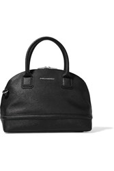 Karl Lagerfeld Textured Leather Tote Black