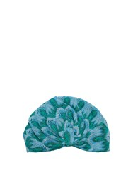 Missoni Mare Embroidered Knitted Turban Green Multi