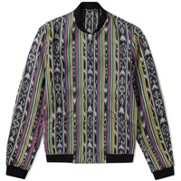 Saint Laurent Reversible Ikat Pattern Teddy Jacket Multi