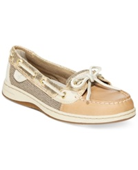 Sperry Women's Angelfish Metallic Boat Shoes Women's Shoes Python Linen Gold