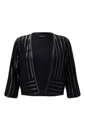 James Lakeland Lace Bolero Black