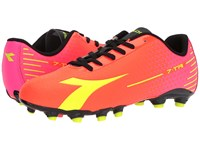 Diadora 7 Tri Mg14 Flourescent Red Flourescent Yellow Soccer Shoes Orange