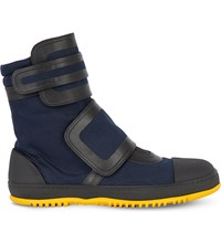 Marni Canvas And Rubber High Top Trainers Night Blue