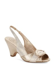 Circa Joan And David Neera Sling Back Pumps Off White Gold