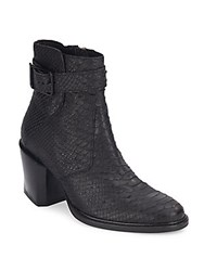 Helmut Lang Leather Ankle Length Boots Black