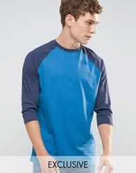 The North Face 3 4 Raglan Sleeve T Shirt Exclusive Ceq1 Bh0 Blue