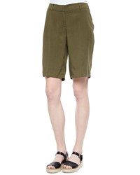 Eileen Fisher Twill Long Shorts