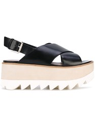 Premiata Flatform Sandals Women Leather Rubber 39 Black