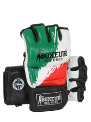 Boxeur Des Rues Italian Flag Leather Mma Gloves