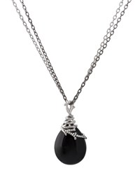 Michael Aram Enchanted Forest Wrap Necklace W Onyx And Diamonds