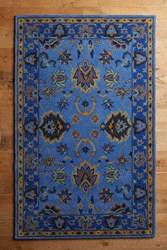 Anthropologie Laurette Rug Blue