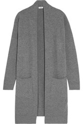 Vince Wool And Cashmere Blend Cardigan Gray