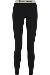 Alexander Wang High Density Lux Ponte Jersey Leggings Black