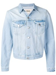 Haikure Cropped Denim Jacket Blue