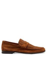Harry's Of London James Embossed Suede Loafers Light Brown