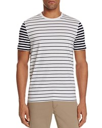 Michael Kors Striped Color Block Tee White
