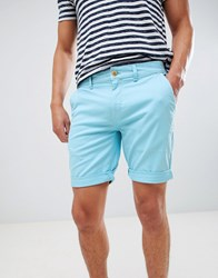 Tommy Jeans Essential Straight Fit Chino Shorts In Light Blue Light Blue