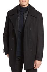 Marc New York Men's By Andrew Cushing Wool Blend Peacoat With Detachable Bib