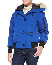 Canada Goose Chilliwack Bomber Jacket With Fur Hood Pacific Blue