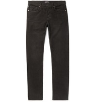 Tom Ford Slim Fit Cotton Blend Corduroy Trousers Brown