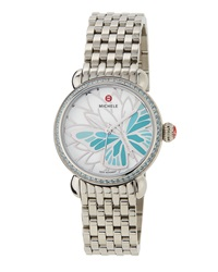 Michele Garden Party Butterfly Watch W Bracelet Strap Blue