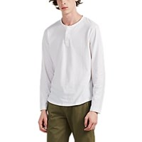 Alex Mill Sueded Cotton Jersey Henley White