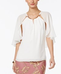 Thalia Sodi Hardware Trim Cape Top Only At Macy's Washed White