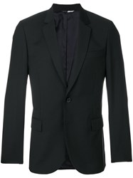 Paul Smith Ps By Scalloped Slim Fit Jacket Viscose Wool Black