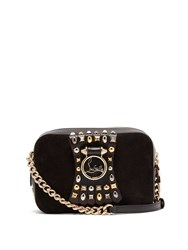 Christian Louboutin Rubylou Embellished Leather Mini Cross Body Bag Black
