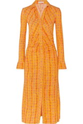 Altuzarra Claudia Checked Jersey Dress Yellow