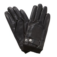 John Lewis Perforated Leather Driving Gloves Black