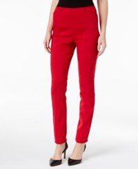 Alfani Seamed Skinny Pants Only At Macy's New Red Amore