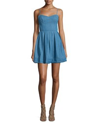 Lovers Friends Sandy Fit And Flare Denim Dress Lagoon Blue