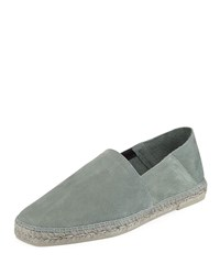Tom Ford Suede Slip On Espadrille Green