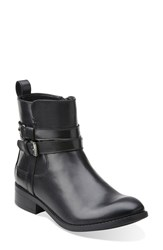 Clarks 'Pita Austin' Waterproof Ankle Boot Women Black Leather