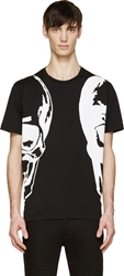 Markus Lupfer Black Two Skulls T Shirt